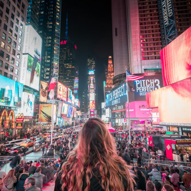 Time Square Portrait during a busy evening [David Tan]