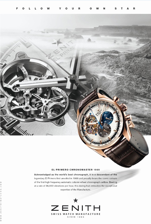 zenith campaign mix watch and landscape