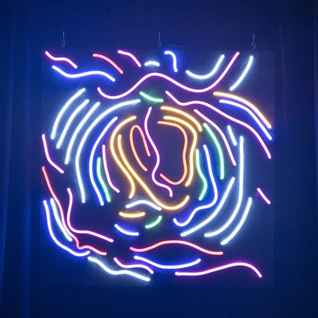 Neon light abstract